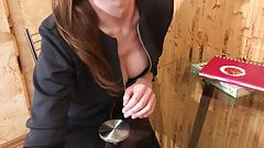 Lustf Teacher Seduces Her Student & Fucks whith Him +Crempie