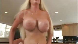 Threesome Fake tits