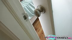 Caught By Step-Dad Using Moms Vibrator!