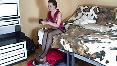 Nylon soles and footstool