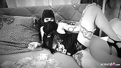 German Gangster Teen Bonny and Clyde Porn Parody Black White