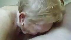 72yo Granny Removes her Teeth for a Gum Job