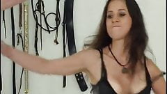 You are not allowed to cry slave, take my whip and shut up