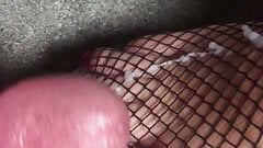 Cumming all over her horny toes