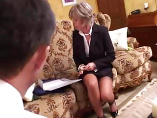 Christines vagina - French mature christine analfucked by a customer