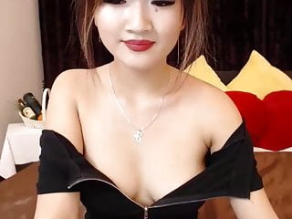 Chinese breast - Stunning cute chinese girl flirting her breasts in webcam
