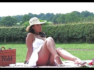 Classy lady tits clips - Classy busty lady play outdoor