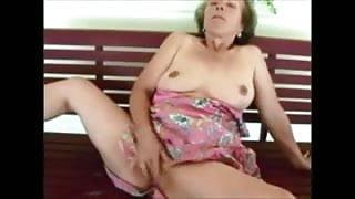 Mature Lady  Outdoors  Masturbation