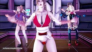 R18 MMD PinkCat Striptease Nyotengu Ayane Kasumi Marie Rose