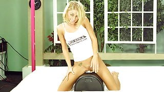 Early Katie Morgan sybian with interview and solo dildo