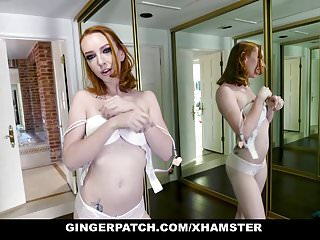Red headed pussy pics Gingerpatch - red head ginger teen pussy gets filled with co