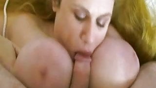 Sweet plump redhead stepmom with giant saggy boobs