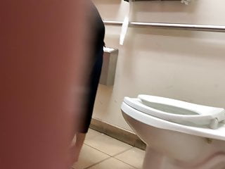 Im been punished for watching porn - Toilet voyeur mexican been watching her at wrk all day