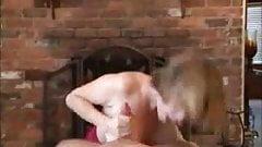 Mature Handjob  With Amazing Cumshot On Gym