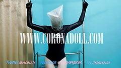 wetsuits + kigurumi + latex hood + bag = Breath Play