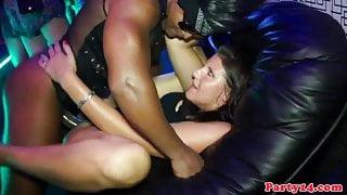 Sexy party euro hotties enjoy sucking