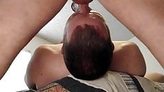Throat fucking a daddy then shooting cum in his mouth