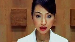 JAP TV BABE CUM SHOTED