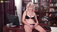 Old grandma is still a dirty whore