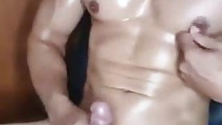 That's the POwer of Nipple Play and big pecs