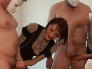 Adult birthday party racing Femdom group party racing with handjobs to get cum