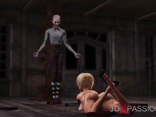 Naked in abandoned builings Joker fucks hard sexy clown lady in abandoned boy scout camp