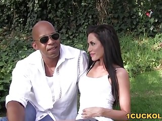 Wife sits on shane diesels cock - Randi wright takes shane diesels bbc - cuckold sessions