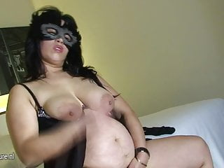 Pregnant slut spreading Mature pregnant slut loves to play with her toy