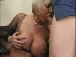 Tits in a vise Huge tits in a fishnet.