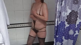 58-YEAR-OLD HAIRY MOTHER, EROTIC MOMENTS, EXHIBITIONIST