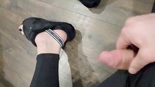 Feet and Cock Jerk