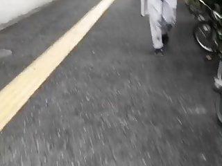 Japanese office stockings handjob video - Pantyhose office lady