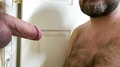 Hairy Dad sucks Ginger Meat through a Glory Hole