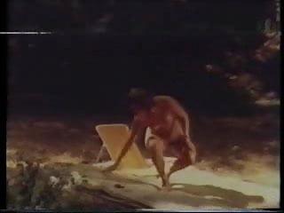 Nudist camp woman Woman dreams of camping - great vintage lesbian scene