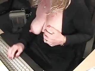 Tit and nipple play - Mature nipple play