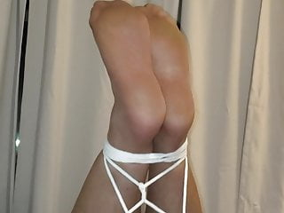 Female self bondage orgasm Self-bondage, pantyhose, hands-free orgasm