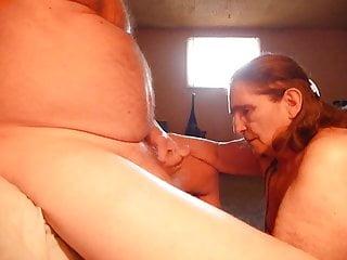 Eat my mommies mature ass Eating my husbands ass blow job cum in condom swallowing
