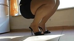 Sexy wife cleaning