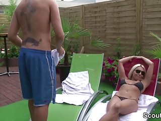 Free young boy dick video - German milf seduce young boy with huge dick to fuck