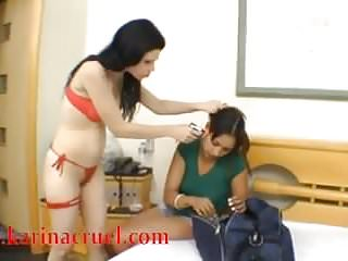 Naked tied slave Facesitting fuck face 2 tied slave girls