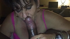 Short-Haired Mature GILF blowing her daughter's BBC BF
