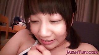 Petite japanese babes wet pussy toyed
