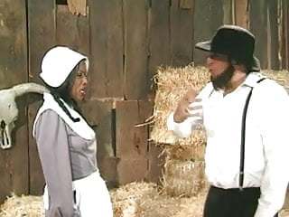 Farmers cum Amish farmer annalizes a black maid