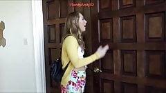 Stepsister catch her sister masturbate