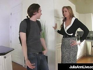 Julia ann free porn - Femdom milf julia ann pegs young boy toy in his tiny asshole