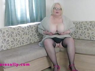 Mature in stockings and heels Very busty british mature sally in stockings and heels