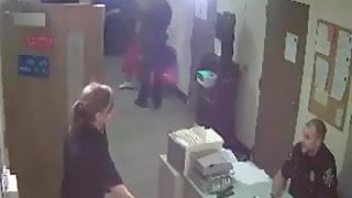 mature female cop humilates guy