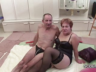 Grandma in stockins porn - German grandpa and grandma make porn casting first time
