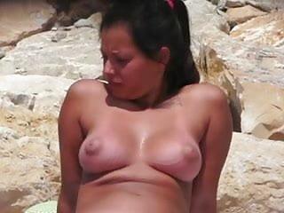 Nudist big boobs Big boobs on a nudist beach