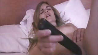 Ally 20 yo college cutie first video - plays with toys